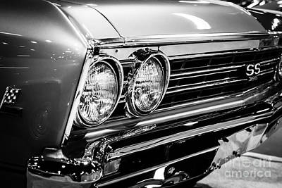 Ss396 Chevelle Black And White Picture Art Print by Paul Velgos