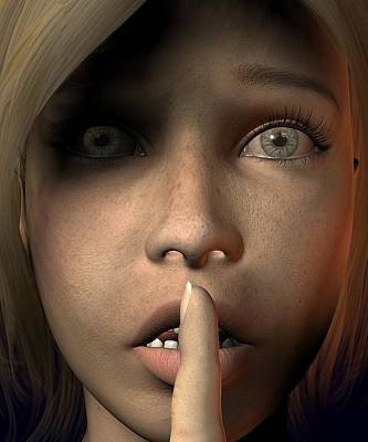 Digital Art - Sshh Nicky by Teo Spiller
