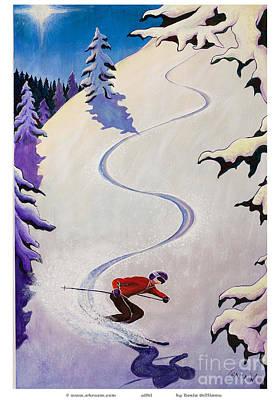 Alpine Skier Painting - sSki by o4rsom by Tonia Williams