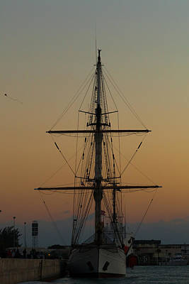 Photograph - S S V  Corwith Cramer In Key West by Ed Gleichman