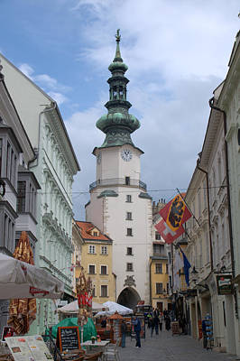 Photograph - St . Michael's Gate In Bratislava by Caroline Stella