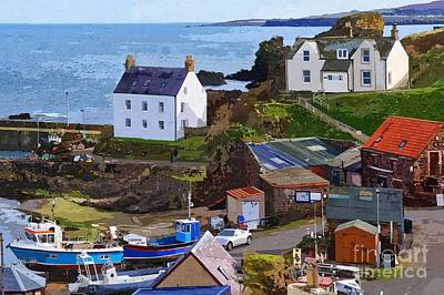 St. Abbs Harbour - Photo Art Art Print