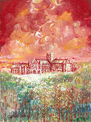 St Albans Abbey - Stormy Weather Art Print