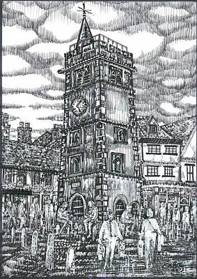 Mixed Media - St Albans Clock Tower - England by Giovanni Caputo