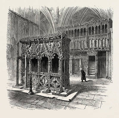 Image result for St Thomas becket shrine Victorian drawing