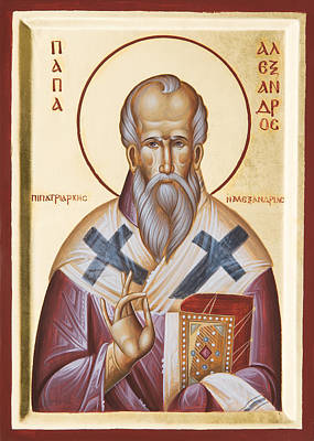 Painting - St Alexander Of Alexandria by Julia Bridget Hayes