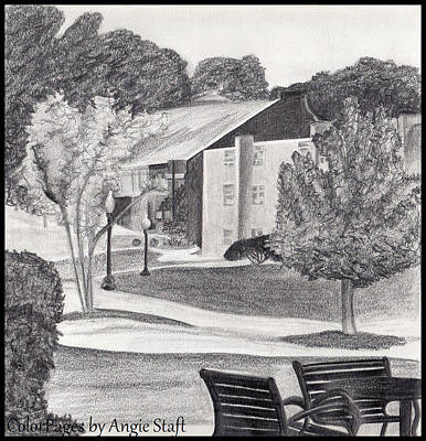 Drawing - St Ambrose Campus by Angie Staft