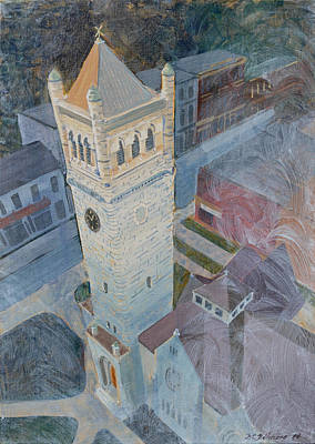 Emphasize Painting - St Andrews Bell Tower by David Gilmore