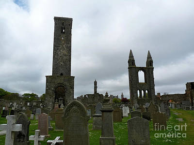 Church Photograph - St. Andrews Cathedral Cemetery by Deborah Smolinske