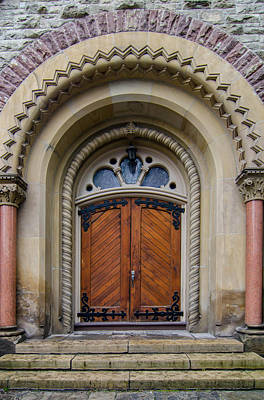 Photograph - St Andrew's Side Door by Guy Whiteley