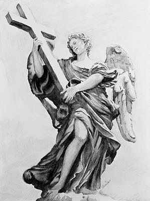 St Angelo Statue II Original by Ursa Davis