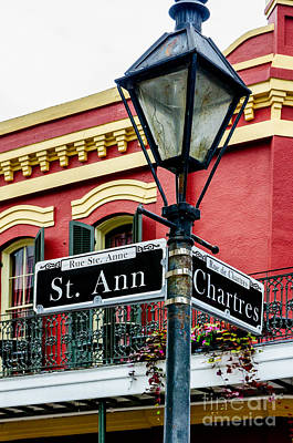Photograph - St. Ann And Chartres Nola  by Kathleen K Parker