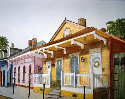 St. Ann Street Scene - French Quarter Art Print by June Holwell