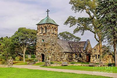 St Anne Church In Kennebunkport Print by Patricia Hofmeester