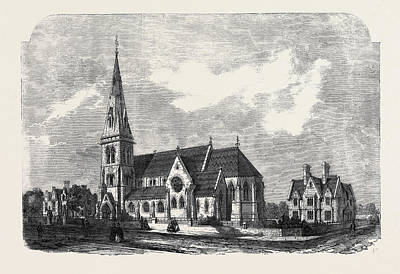 St. Anns Church Parsonage And Schools Hanger Lane Stamford Art Print by English School
