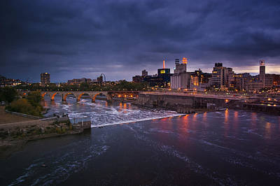 Minnesota Photograph - St. Anthony Falls by Bryan Scott