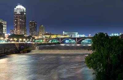 Photograph - St. Anthony Falls by Chris Coward