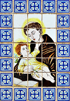 Tile Photograph - St Anthony Of Padua by Christine Till