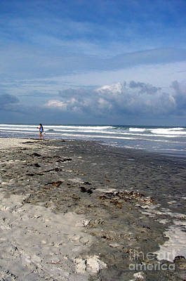 Beach Scene Photograph - St Augustine Beach Feeling by Susanne Van Hulst