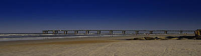 St Augustine Beach Pier Art Print by Donnell Carr