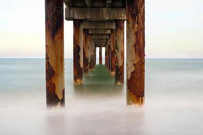 St. Augustine Beach Pier Art Print by Marion Johnson