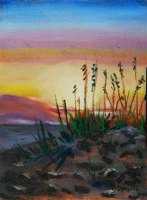 Painting -  Beach At Sunrise by Michael Daniels