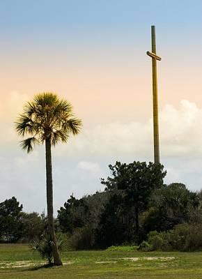 Photograph - St Augustine Cross by Bob Pardue
