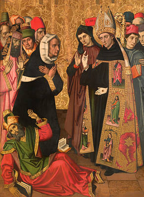 Christian Artwork Painting - St Augustine Disputing With The Heretics by Mountain Dreams