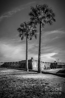 Park Scene Photograph - St. Augustine Fort by Marvin Spates