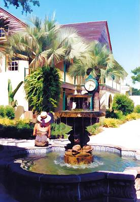 Photograph - St. Augustine Fountain by Jan Amiss Photography