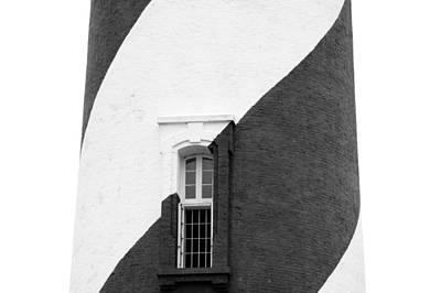 Photograph - St Augustine Lighthouse Bw by Keith Swango