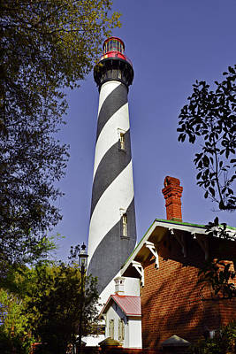 St Augustine Lighthouse - Old Florida Charm Art Print