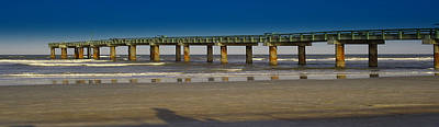 St. Augustine Pier Art Print by Donnell Carr