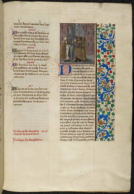 Clergy Photograph - St. Augustine Recapitulates by British Library