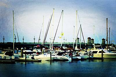 St. Augustine Sailboats Art Print by Laurie Perry