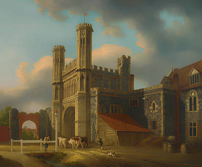 Cattle Dog Painting - St Augustine's Gate Canterbury by Mountain Dreams