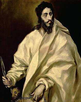 Religion Painting - St Bartholomew by Celestial Images