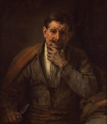 Netherlands Painting - St. Bartholomew by Rembrandt van Rijn