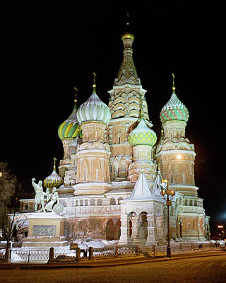 Photograph - St. Basil's Cathedral In December by Alan Toepfer