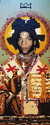 Aggressive Mixed Media - St. Basquiat by Voodo Fe Culture
