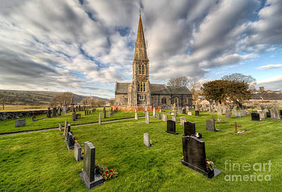Grave Yards Photograph - St Beuno Church by Adrian Evans