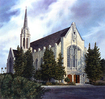Painting - St. Brendan Church by Tom Wooldridge