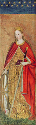 St. Catherine Of Alexandria, 1475 Oil On Panel Detail Of 197121 Art Print by Ludovico Brea
