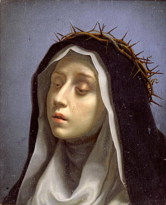 St. Catherine Of Siena Painting - St. Catherine Of Siena by Carlo Dolci