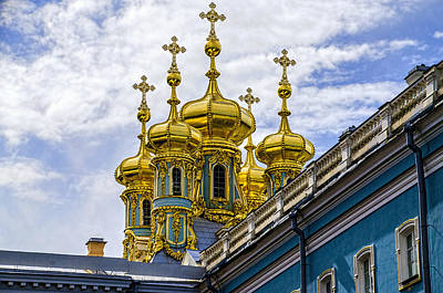 St Catherine Palace - St Petersburg Russia Print by Jon Berghoff