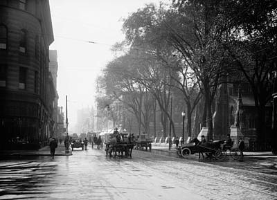 St Catherine Street - Montreal 1910 Art Print by Mountain Dreams