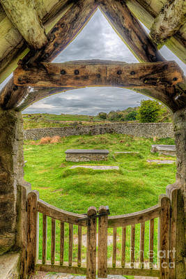 Beam Digital Art - St Celynnin Graveyard by Adrian Evans