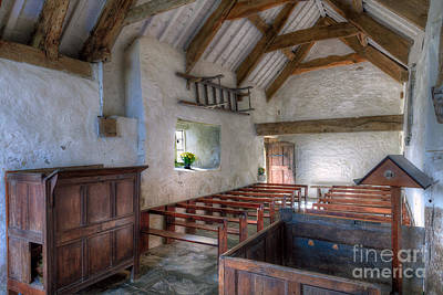 Window Bench Photograph - St Celynnin Interior by Adrian Evans