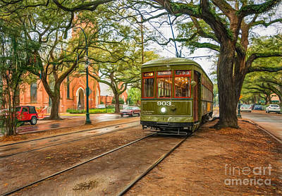 St Charles Avenue Photograph - St. Charles Ave Streetcar Nola by Kathleen K Parker