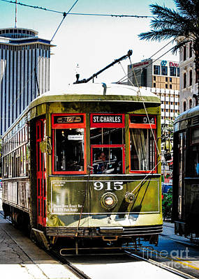 Photograph - St. Charles Ave Streetcars Nola by Kathleen K Parker